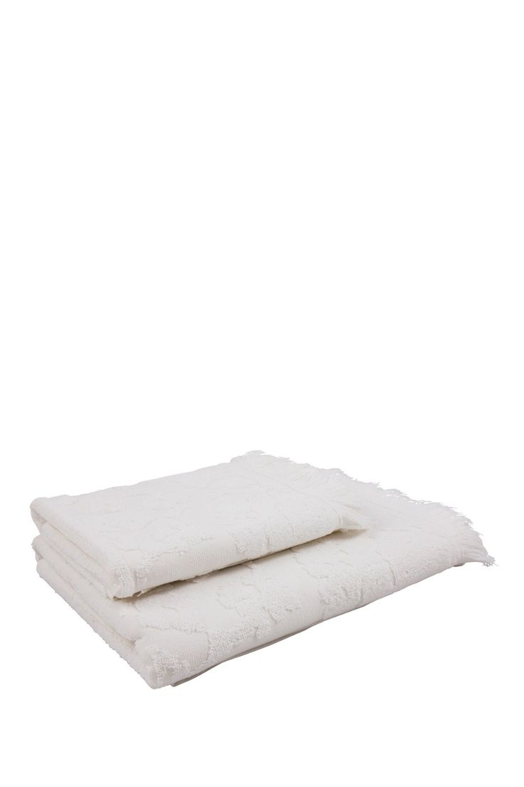 Istanbul Set of 2 Towels – White