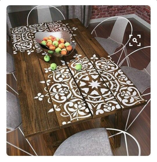 Una mesa simple, mandalas faciles con aerosoles #simple #mesa #accesible #diy…