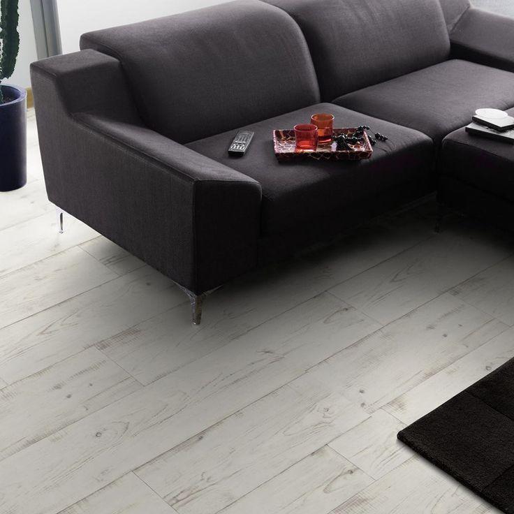 PVC Boden Gerflor Home Comfort 1536 Keywest Blanc  4m Bodenbeläge PVC Belag Holz - Dekor