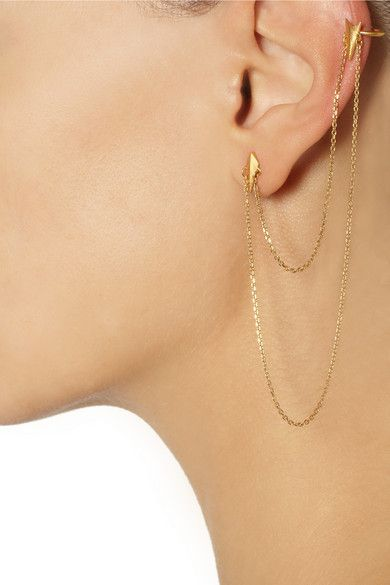 MARIA BLACK D'arling gold-plated earring $150