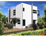 H001 Three storey house with external swimming pool