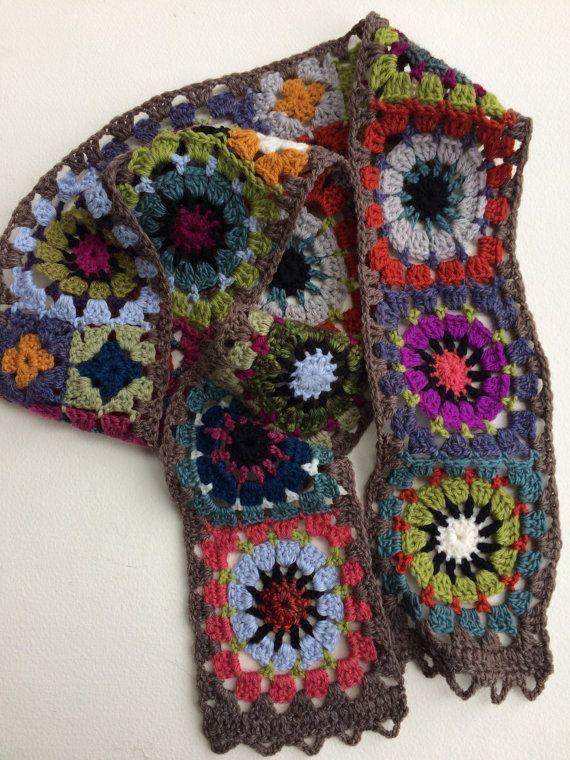 Bufanda de la abuela acogedora de folk Plaza por folkcity en Etsy