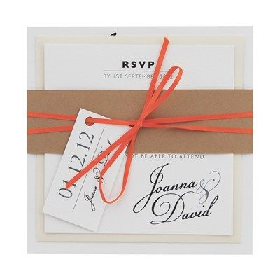 Joanna Invitation and RSVP from Eaton Cards and Stationery