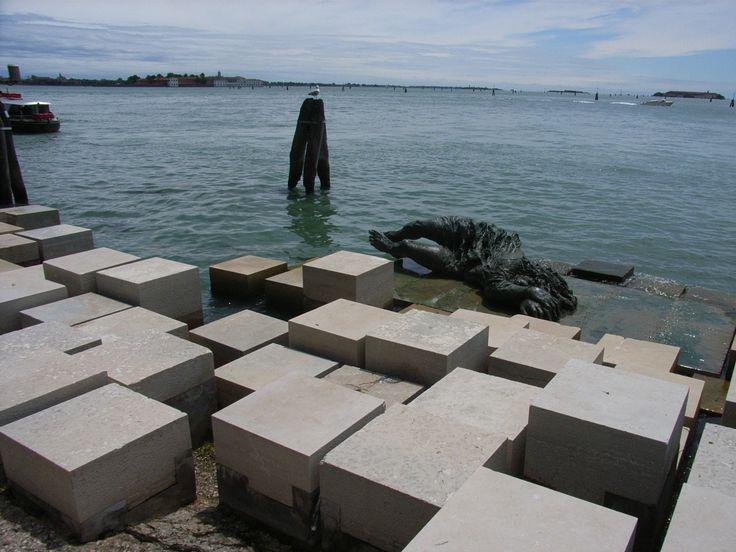 Urban art, land art designer, artist Carlo Scarpa, Venice