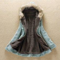hiver veste polaire femme longue