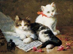 Leon Charles Huber (1858- 1928) French painter