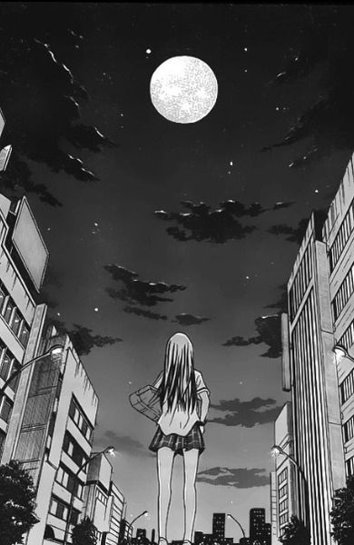 Cute Girl Crying Wallpaper The Sky Is Dark And The Moon Is Up Oh What Will Await