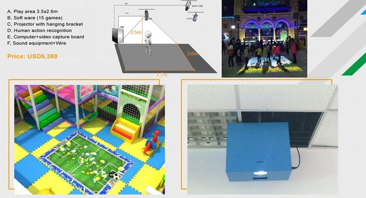 Projection games in soft play equipment 02