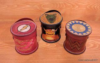 Foster Leathercraft: Dice Cups, Family Set, PHB, Wonder Woman, & Flash