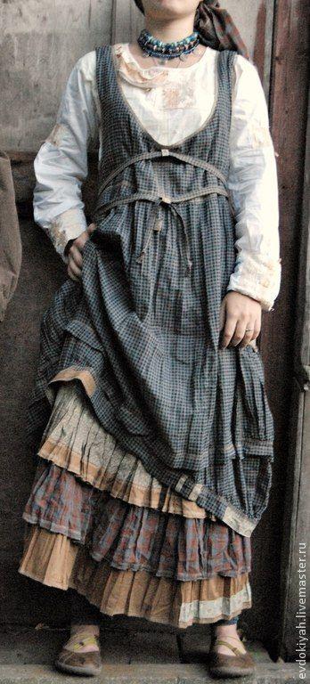 Купить ОДЕЖДА ДЛЯ СВОБОДНЫХ НАТУР - натуральные ткани, платье в пол, сарафан и рубашка, бохо