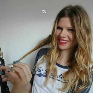 Use this trick to get perfect boho curls every time. | 29 Hairstyling Hacks Every Girl Should Know After curling with a curling iron, pull the lock of hair out straight. Get more complete directions here.