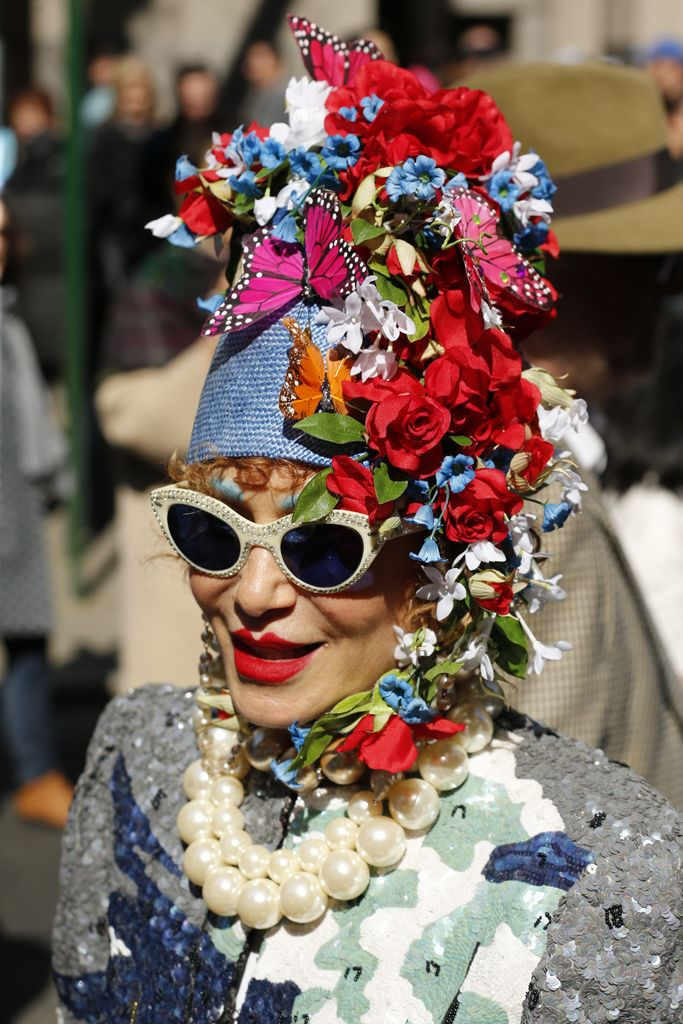 Eye-catching headwear along New York's Fifth Avenue for the 2015 Easter Parade. [Photo by George Chinsee]