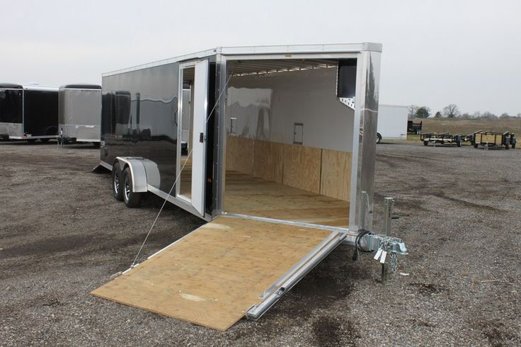 2015 Enclosed Haul-It   7 x 28 All Aluminum Drive On\Off Snow Trailer for Sale