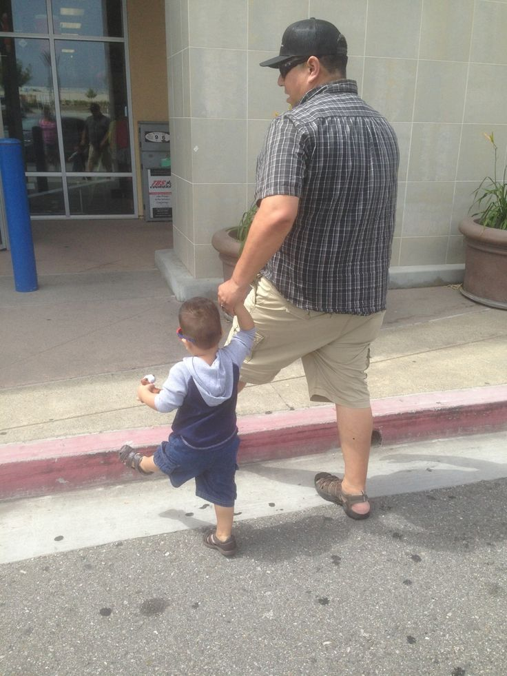 Like father like son. Going to the Big 5 Sporting Goods store