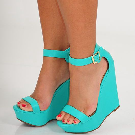 Real Image Handamde Green Women Sandal Wedges Cut-outs Open Shoes With Platform Ladies Causal Shoes Summer Style Sandals