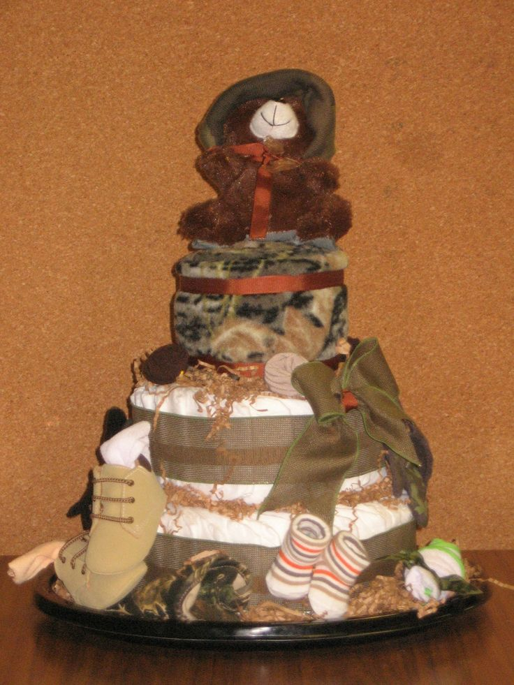 Camo Diaper Cake Decorations : 337 best images about Baby/Gift/Shower/ on Pinterest Boy ...