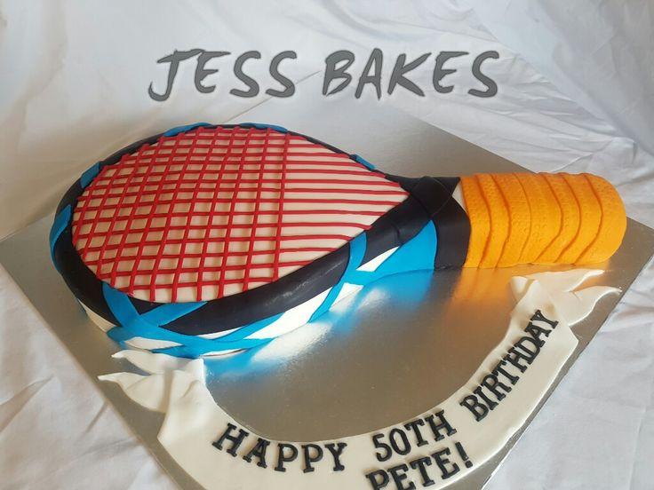 Squash racket cake
