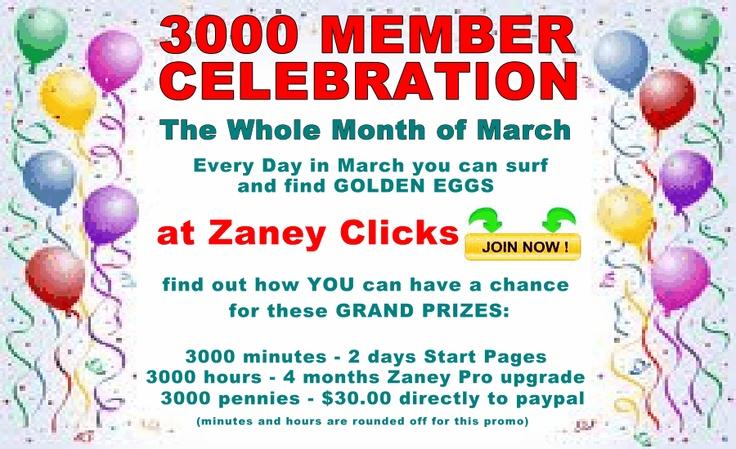 3000 Member Celebration | Zaney News & Blog