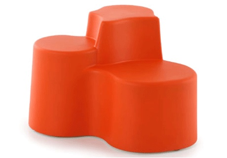 Design: Vincenzo Genco  It is a group of three different-height soft seats, made of Poly-plus, an innovative material that makes it suitable for outdoor use too, that's designed to meet every need of sitting in urban areas, for contract or residential solutions and much more