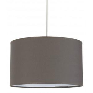 Suspension cylindre abat jour gris fonc luminaire for Suspension luminaire gris