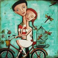 """Bike""  Facebook...Lyndy Wilson Art. Painting"
