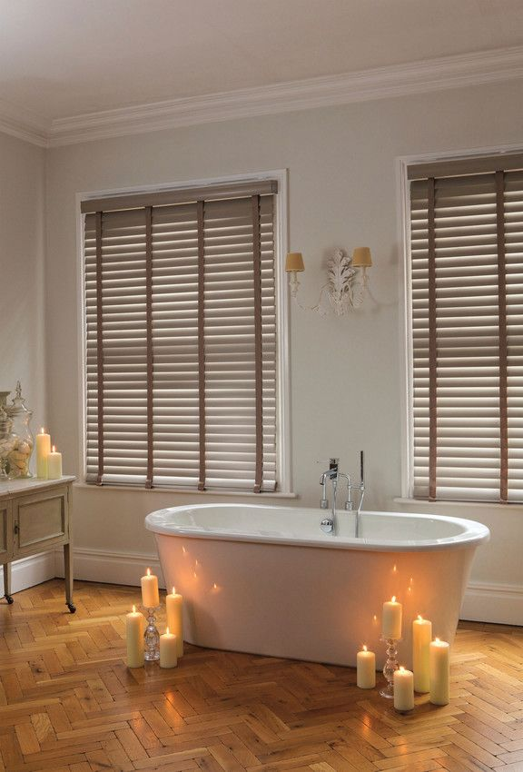 Romantic Ambience with our wooden Venetian Blinds