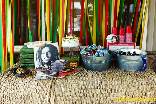 Jamaican Birthday Party | ... Birds Adorable Bob Marley-themed 3rd Birthday Party by Jackie Culmer