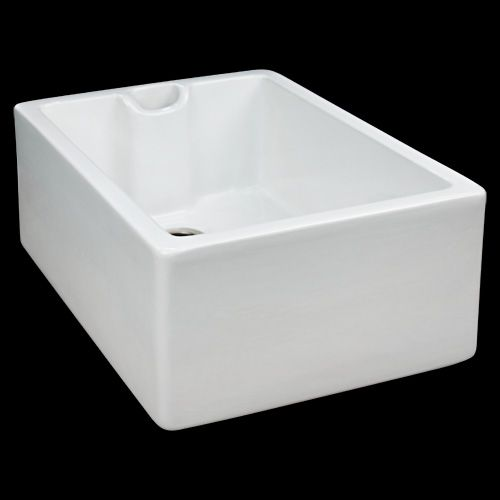 """18"""" Ellyce Single Bowl Fireclay Farmhouse Sink with Overflow 