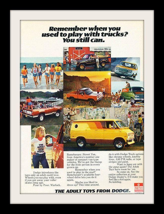 "1977 Dodge Van & Truck Ad ""Adult Toys"""