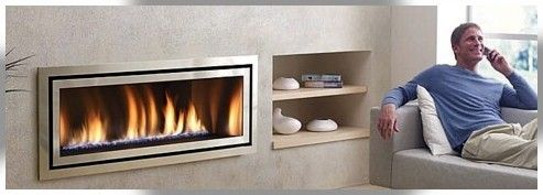 The Regency Contemporary collection of modern gas flame fires by Abbey Fireplaces.