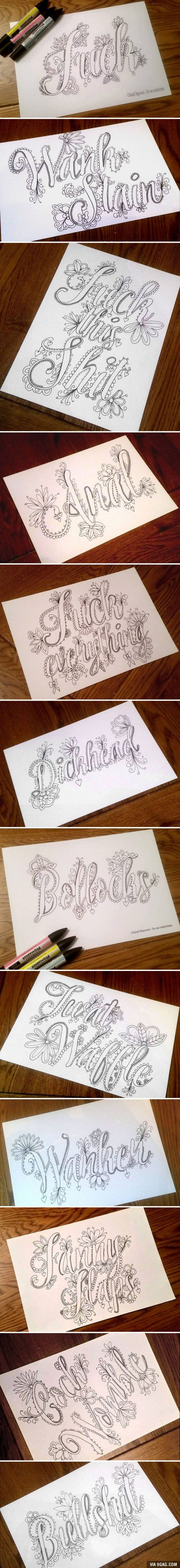 Swear word coloring pages etsy - This Fancy Swear Word Coloring Book Will Stop You From Swearing To Coloring