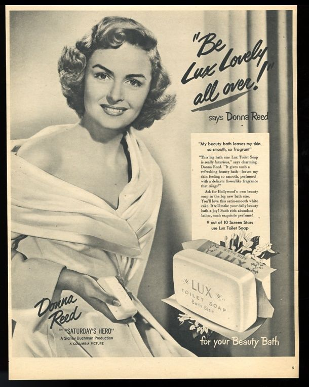 1951 Donna Reed photo Lux soap vintage print ad