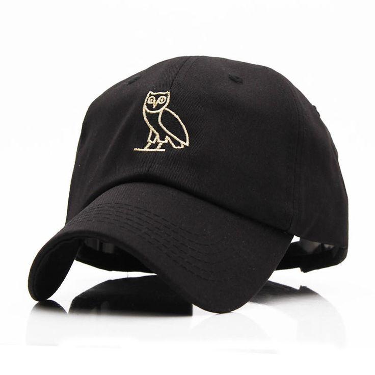 High Quality Outdoor Visor black Strapback OVO Drake Hotline Bling hats 6 panel snapback POLOs baseball cap GOLD OWL from Cool Hats Online.