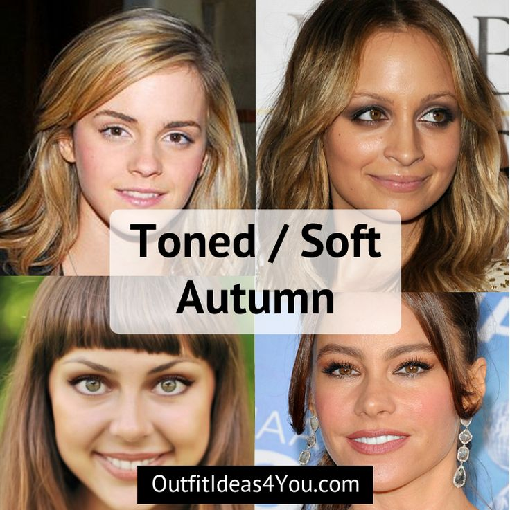 "You're a Soft Autumn! Also known as a ""toned autumn"" in the 4x4 color system. You are warm, deep, and soft. Warm, earthy eyes. Medium hair. Light to Medium skin. Go ahead and download your soft autumn color palette and order your toned autumn color fan! And take a look at the clear sp"