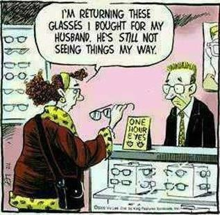 Image result for i'm returning these glasses i bought for my husband