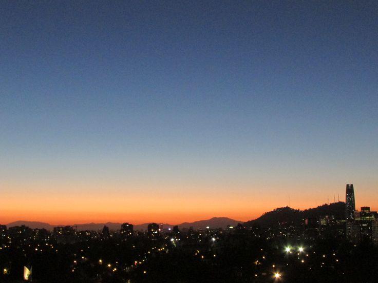 Anochecer en Santiago (Nov 2013)