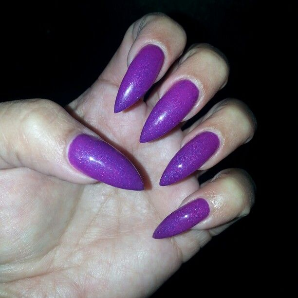 The 25+ best Purple stiletto nails ideas on Pinterest ...