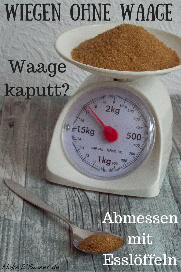 mehl ohne waage