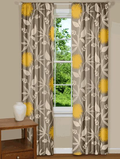 17 Best Images About Gray Walls Yellow Curtains On