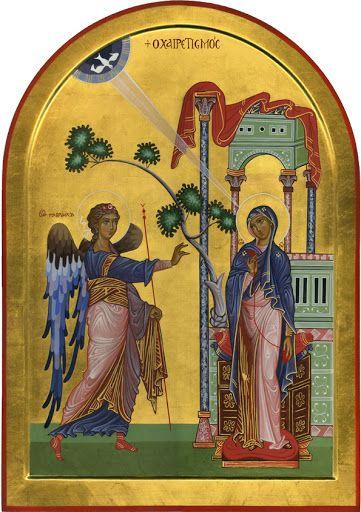 Annunciazione icone per mano di Anna Pecchini - iconecristiane