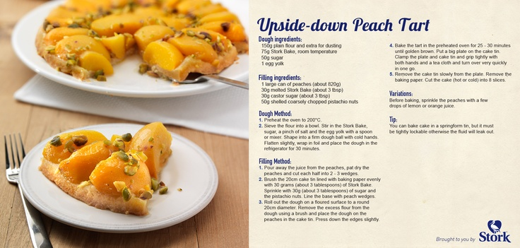 Try out this upside-down peach tart #recipe!