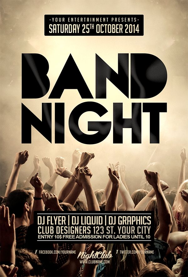 band tour flyer template google search flyer inspiration pinterest night band and flyers. Black Bedroom Furniture Sets. Home Design Ideas