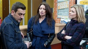 Coronation Street: Peter, Carla and Leanne