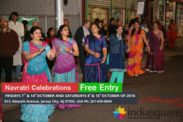 #Navratri is celebrated to worship the various forms of the Mother Divine through prayers, chants, meditation, fasting and other spiritual practices. It is also the time of the year to turn inward and nurture, rejuvenate & replenish our soul. India Square is inviting you to the grand #NavratriCelebrations on Fridays 7th & 14th Oct and Saturdays 8th & 15th Oct of 2016 at JerseyCity, NJ between 9pm- 2am #FreeGarbhaTickets,#FreeNavratriEventsInJerseyCity,#GarbhaWithFreeEntry
