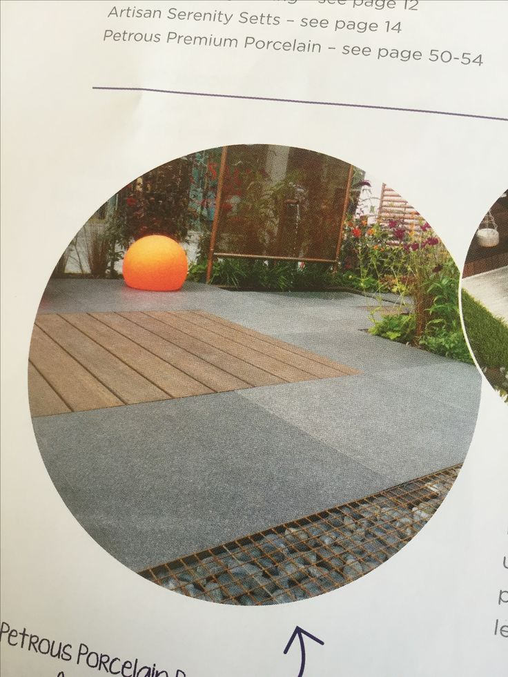 Wood and paving