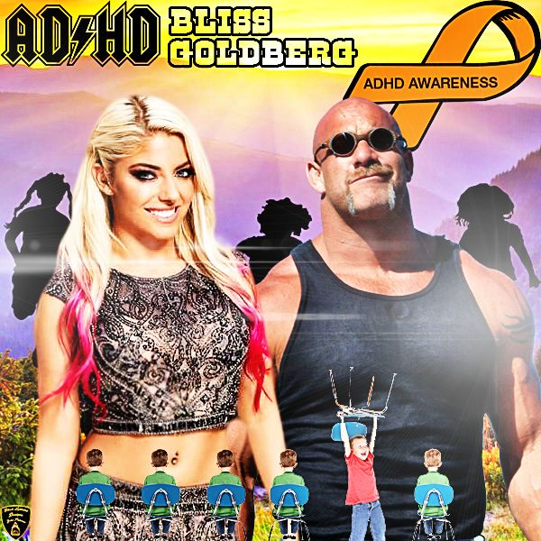 i had a request : of adhd awareness with george strait: so i turned around and also made it a theme with alexa bliss and goldberg i really hope everyone enjoys this wallpaper i created Black lightning