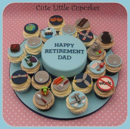 retirement cupcakes | Retirement Cake & Cupcakes - by ...