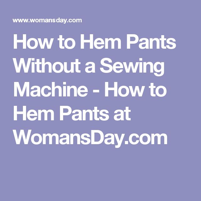 how to hem without a sewing machine