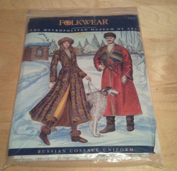 Folkwear Russian Cossack Uniform Pattern Patterns