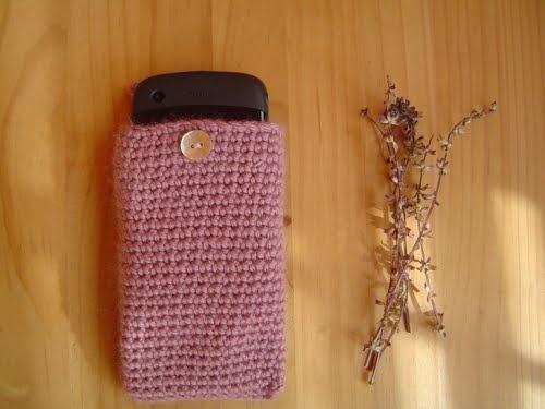 coses petites: Funda de ganchillo para móvil (Blackberry) · Cell phone (Blackberry) crochet cover
